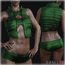 PBR Textures for SciFi Clothing Set 2 for G8F image 2