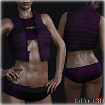 PBR Textures for SciFi Clothing Set 2 for G8F image 3