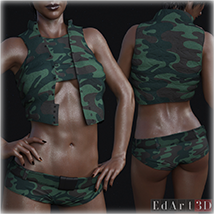 PBR Textures for SciFi Clothing Set 2 for G8F image 5