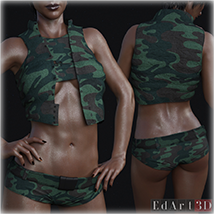 PBR Textures for SciFi Clothing Set 2 for G8F image 6