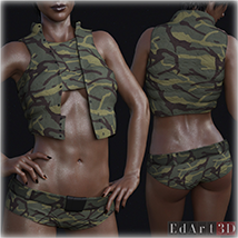 PBR Textures for SciFi Clothing Set 2 for G8F image 7