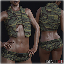 PBR Textures for SciFi Clothing Set 2 for G8F image 8