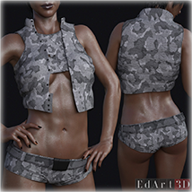 PBR Textures for SciFi Clothing Set 2 for G8F image 11