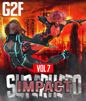SuperHero Impact for G2F Volume 7 3D Figure Assets GriffinFX