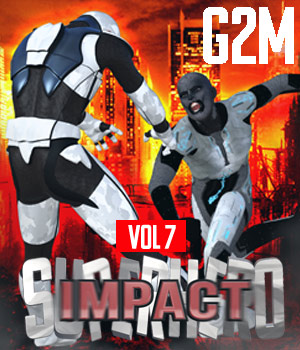 SuperHero Impact for G2M Volume 7 3D Figure Assets GriffinFX