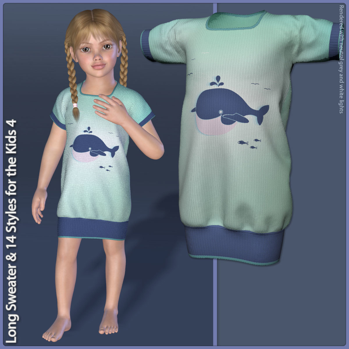 Long Sweater and 14 Styles for the Kids 4 by karanta