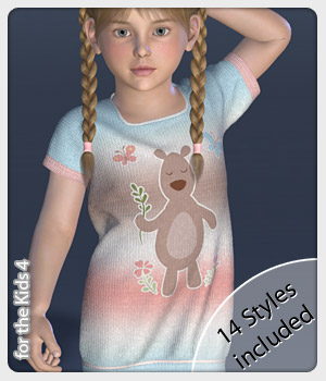 Long Sweater and 14 Styles for the Kids 4 3D Figure Assets karanta