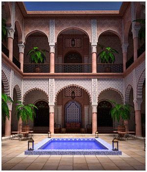 Moroccan Riad 3D Models RPublishing