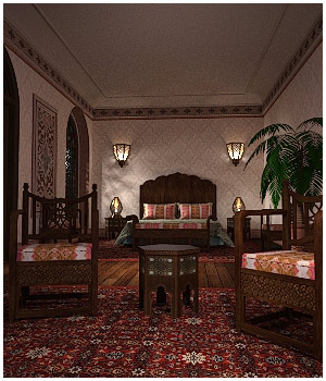 Moroccan Riad Bedroom 3D Models RPublishing