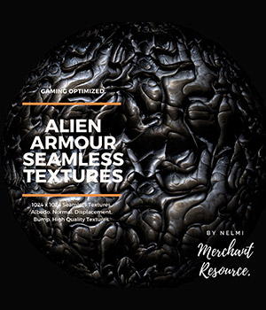 Alien Armour Seamless Textures - Merchant Resource 2D Graphics Merchant Resources nelmi