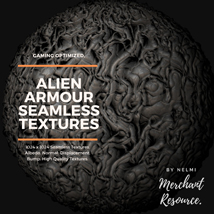 Alien Armour Seamless Textures - Merchant Resource image 7