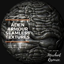 Alien Armour Seamless Textures - Merchant Resource image 10