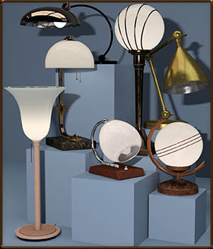 Desk Lamps for DS 3D Models DreamlandModels