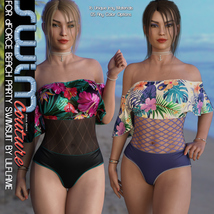 SWIM Couture for dForce Beach Party Swimsuit image 1
