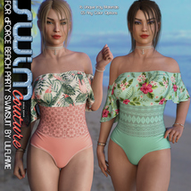 SWIM Couture for dForce Beach Party Swimsuit image 2