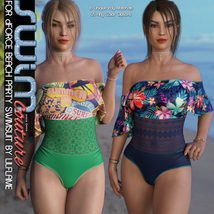 SWIM Couture for dForce Beach Party Swimsuit image 4