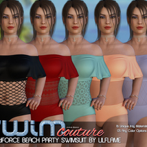 SWIM Couture for dForce Beach Party Swimsuit image 9