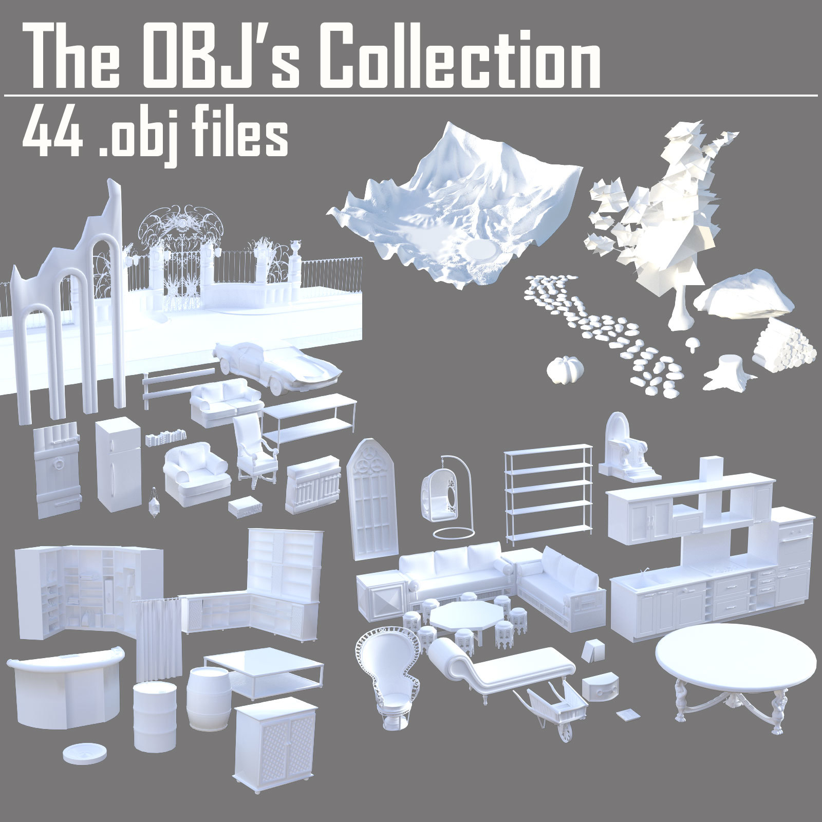 The OBJs Collection - Extended License by powerage