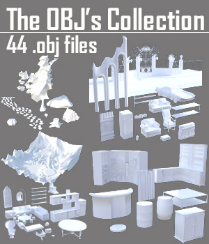 The OBJs Collection - Extended License 3D Game Models : OBJ : FBX 3D Models Extended Licenses powerage