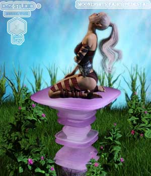 Moonlights Fairy Pedestals for DS and Iray - Extended License 3D Models Extended Licenses Moonlight001