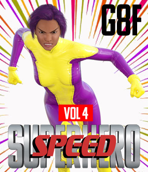 SuperHero Speed for G8F Volume 4 3D Figure Assets GriffinFX