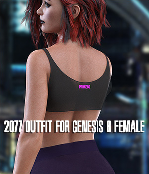dForce 2077 Outfit for Genesis 8 Female 3D Figure Assets Imaginary3D