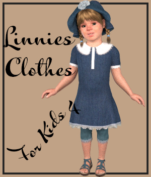 Linnies Clothes for Kids 4 3D Figure Assets pixpax