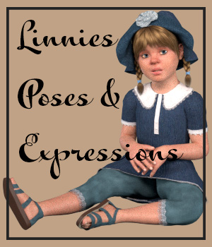 Linnie Poses for the Kids 4 3D Figure Assets pixpax