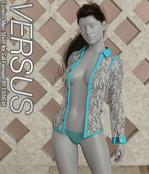 VERSUS - Exnem Man Shirt for G8 Female 3D Figure Assets Anagord