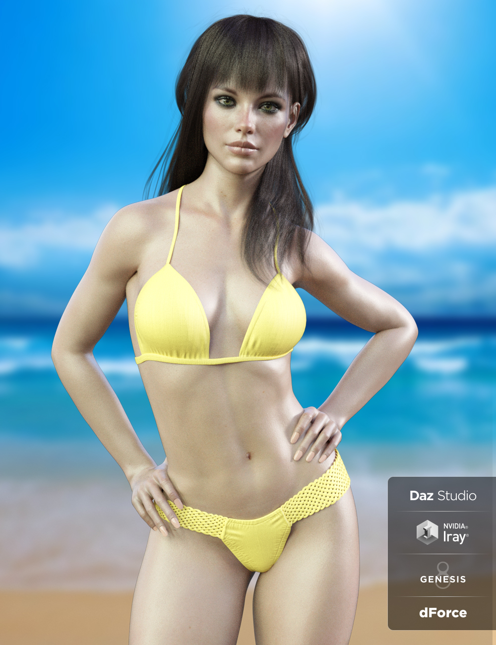 X-Fashion Braided Bikini for Genesis 8 Females