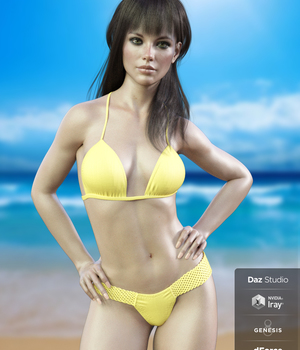 X-Fashion Braided Bikini for Genesis 8 Females 3D Figure Assets xtrart-3d