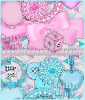 Hello Baby 2D Graphics antje