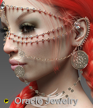 Oracle Jewelry 3D Figure Assets Parallax3DArt