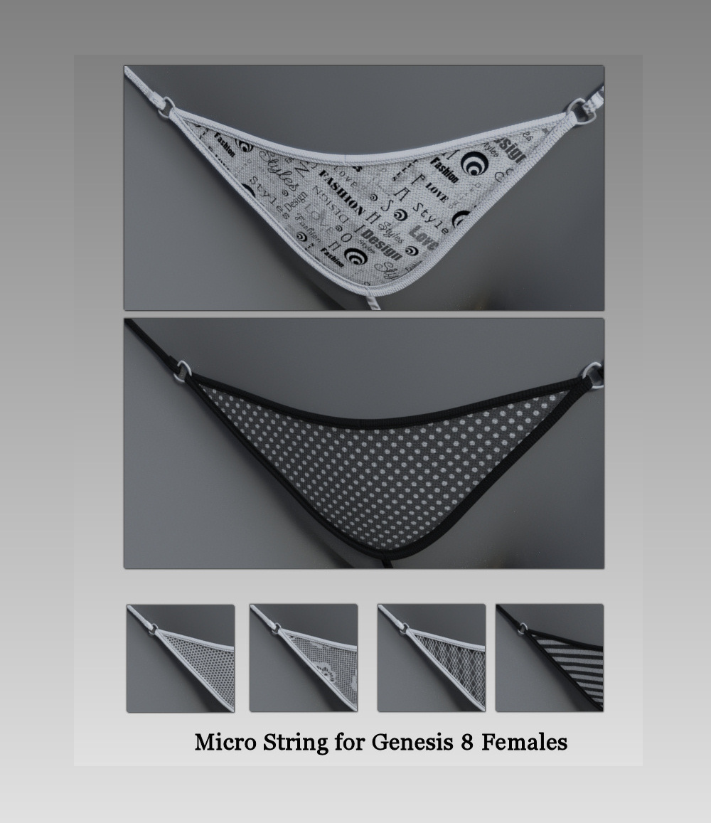 Micro String for Genesis 8 Female