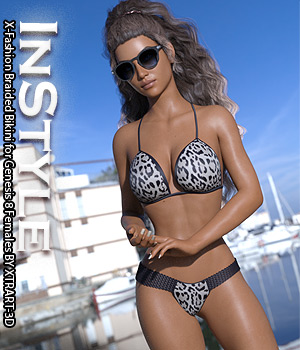 InStyle - X-Fashion Braided Bikini for Genesis 8 Females 3D Figure Assets -Valkyrie-