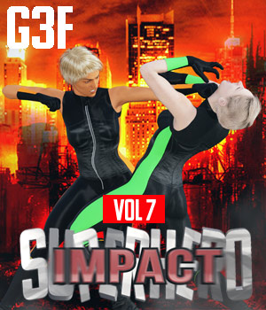 SuperHero Impact for G3F Volume 7 3D Figure Assets GriffinFX