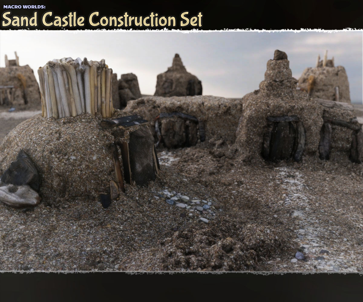 Macro Worlds: Sand Castle Construction Set - Extended License