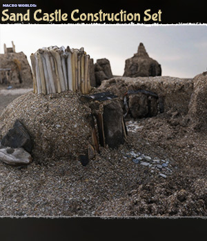 Macro Worlds: Sand Castle Construction Set - Extended License 3D Models Extended Licenses ShaaraMuse3D