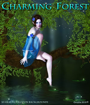 Charming forest 2D Graphics ornylia