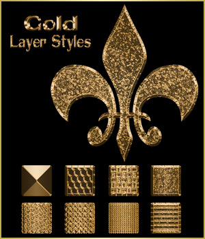 Gold Layer Styles 2D Graphics antje
