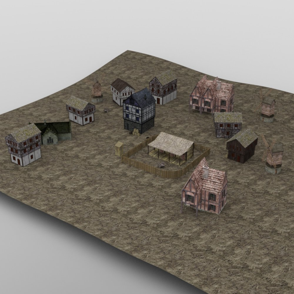 Medieval Village for DAZ Studio by VanishingPoint