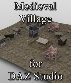 Medieval Village for DAZ Studio 3D Models VanishingPoint