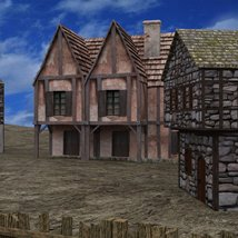 Medieval Village for DAZ Studio image 1