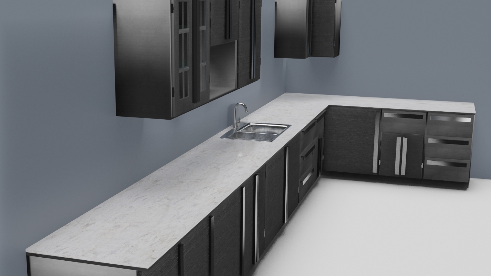 Low Poly Kitchen Grey - Extended License