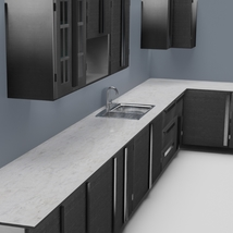 Low Poly Kitchen Grey - Extended License image 1