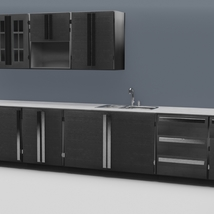 Low Poly Kitchen Grey - Extended License image 2