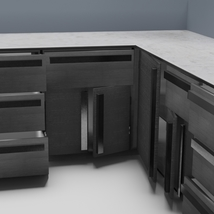 Low Poly Kitchen Grey - Extended License image 5