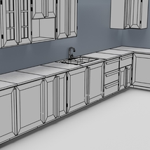 Low Poly Kitchen Grey - Extended License image 11