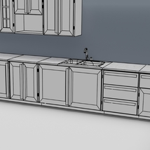 Low Poly Kitchen Grey - Extended License image 12