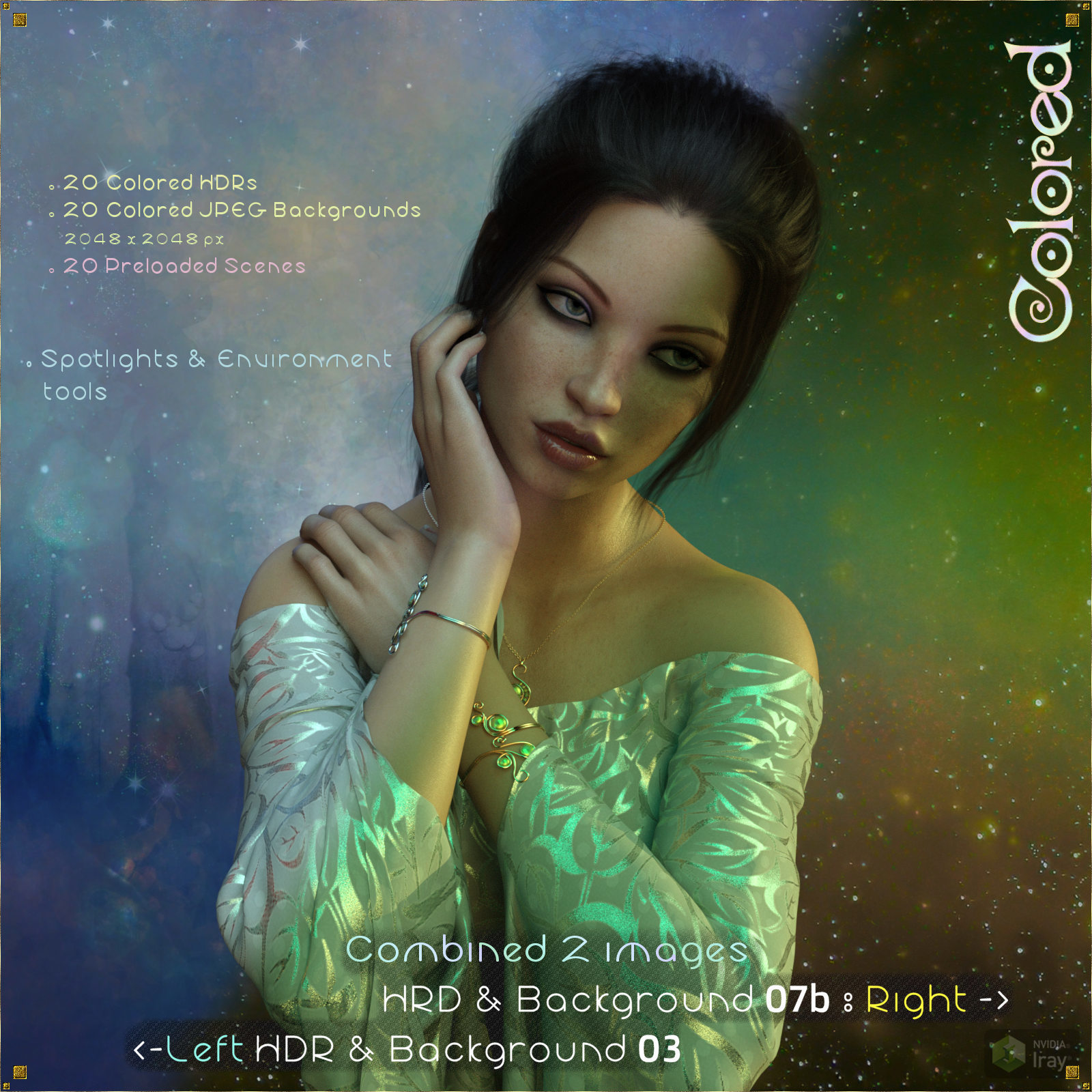 HDR & Backgrounds - Colored for DAZ Studio